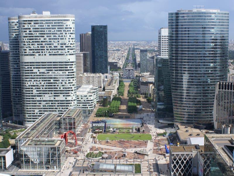grand arche Paryża obrazy royalty free