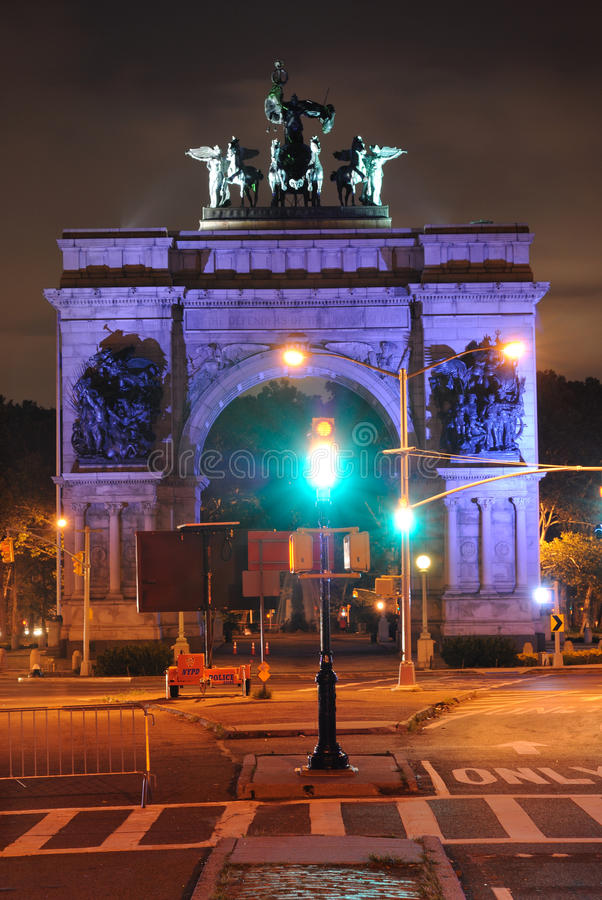 Grand Army Plaza. In Brooklyn New York City commemorating the Union Victory during the Civil War royalty free stock photography