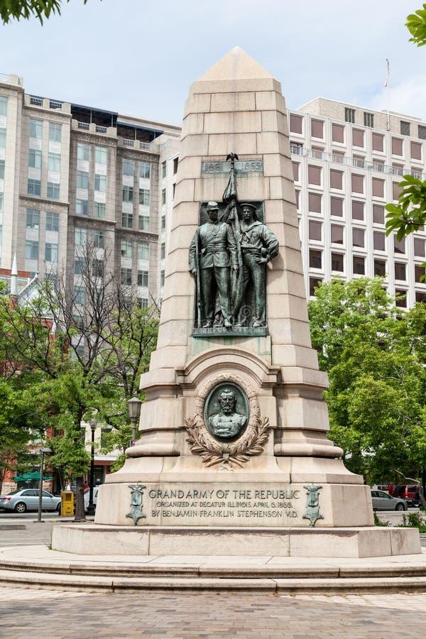 Grand Army of the Republic Monument Washington DC. The monument to the grand army of the republic in Washington DC stock photos