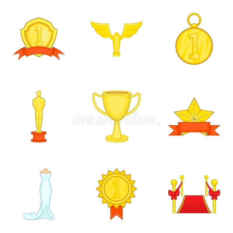 Free Grand Award Icons Set, Cartoon Style Stock Image - 113688101