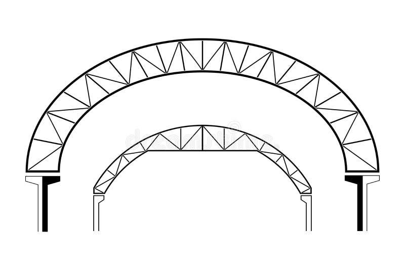 Grand bâtiment de toiture, en forme de dôme, illustration de vecteur illustration stock