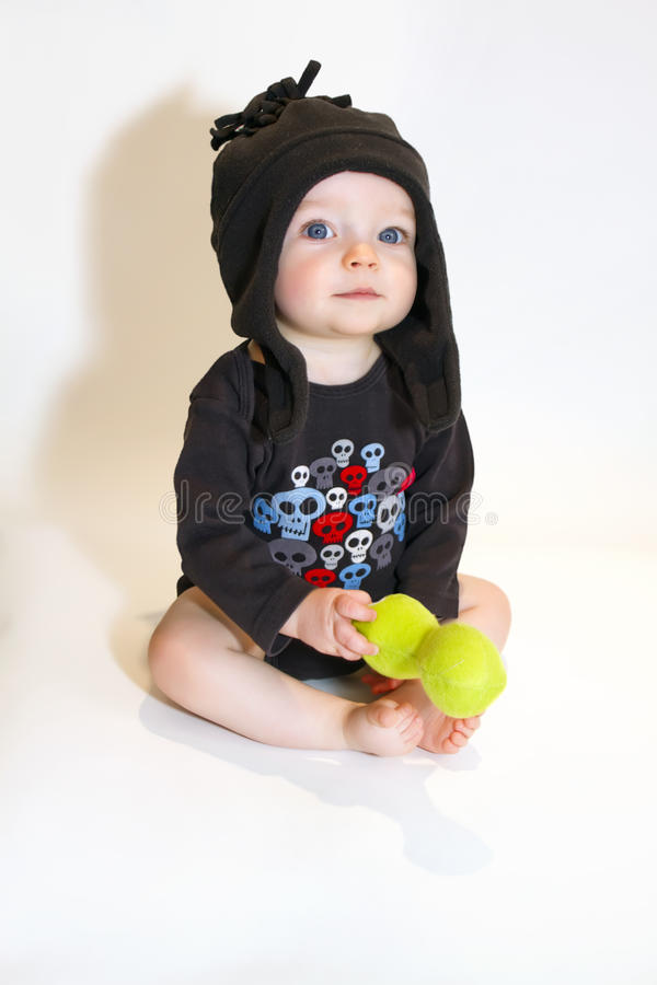 Grand bébé de œil bleu photo libre de droits