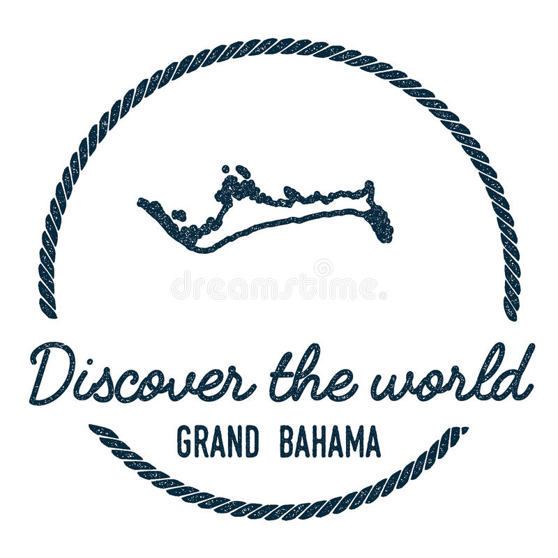 Grand Bahama Map Outline. Vintage Discover the. Grand Bahama Map Outline. Vintage Discover the World Rubber Stamp with Island Map. Hipster Style Nautical stock illustration