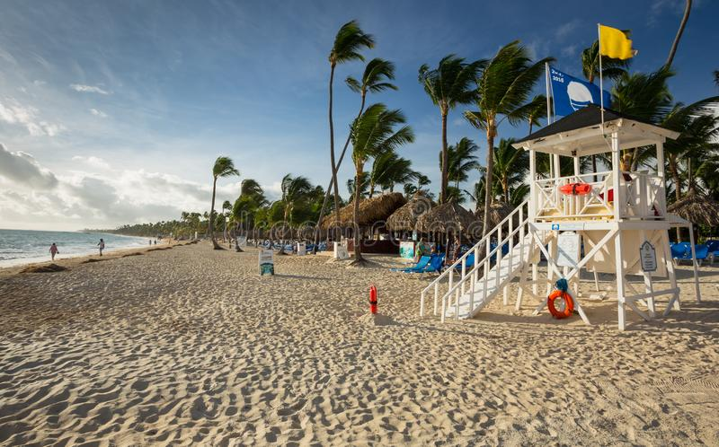 Grand Bahia Principe Hotel Life Guard Station on November 10, 2015 in Punta Cana, Dominican Republic stock images