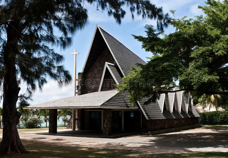 Grand Baie Church - Mauritius stock images