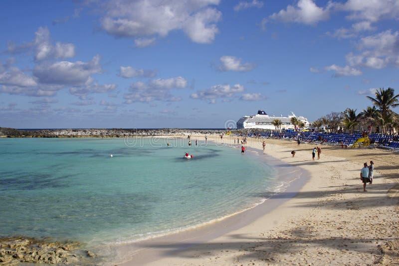 Grand banc de sable d'étrier, Bahamas, des Caraïbes photos libres de droits