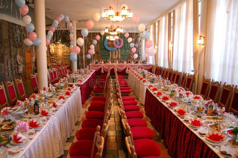 Grand banquet de dîner photos stock