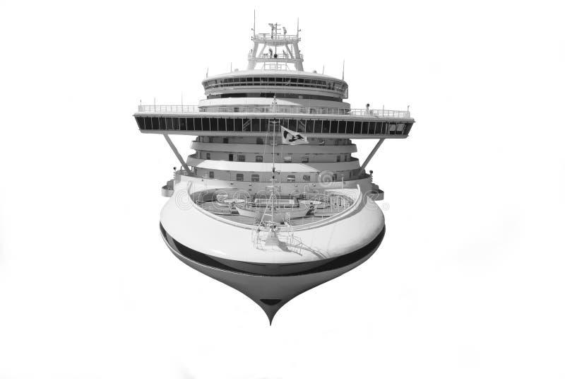 Grand bateau de croisière d'isolement au-dessus du blanc illustration libre de droits