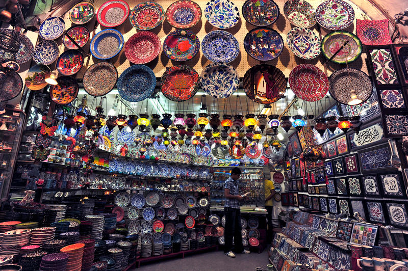 Download Grand Bazaar Istanbul editorial photo. Image of light - 25899226