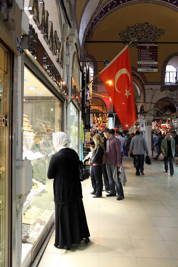 Grand Bazaar in Istanbul, Turkey royalty free stock images
