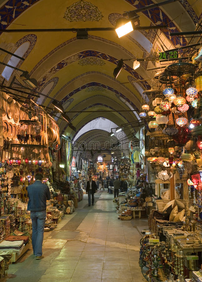 Grand Bazaar - Istanbul - Turkey stock images