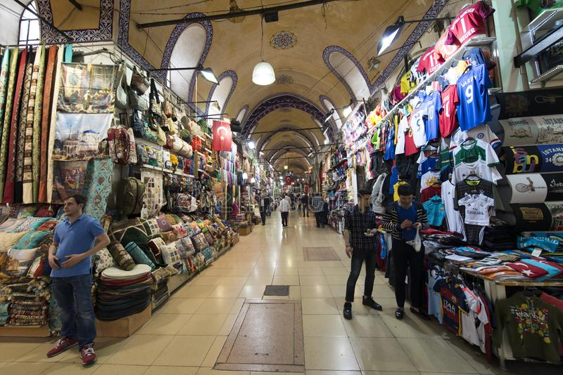 Shops in The Grand Bazaar, one of the oldest shopping mall in history. This market is in Istanbul, Turkey. The Grand Bazaar, one of the oldest shopping mall in royalty free stock photos