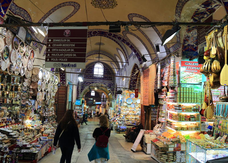 Grand bazaar, Turkey. Grand bazaar in Istanbul, Turkey stock photo
