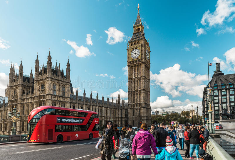 Grand Ben et centre de la ville de Londres, R-U images libres de droits