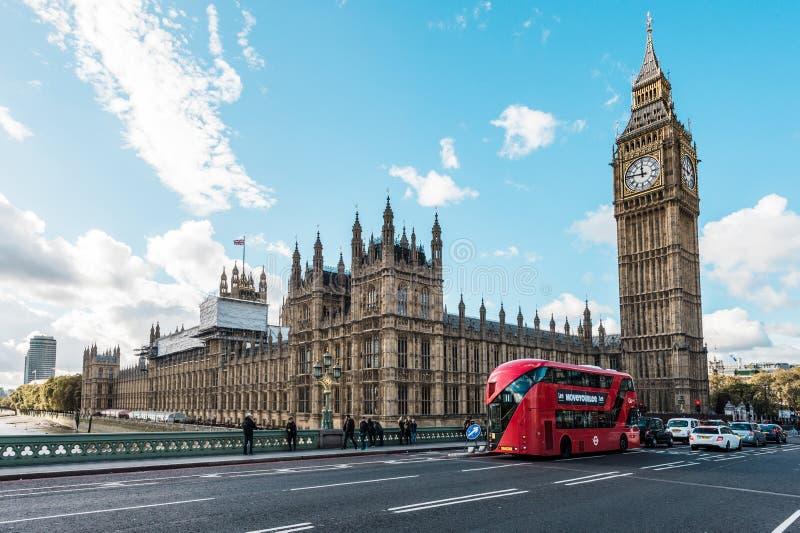 Grand Ben et centre de la ville de Londres, R-U image libre de droits