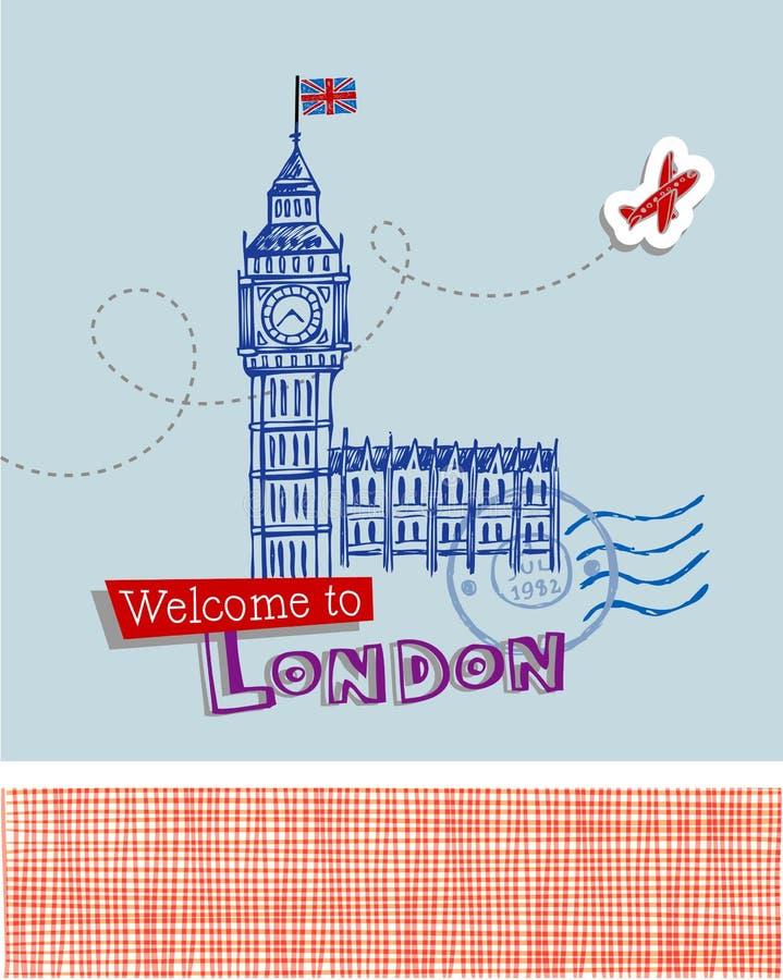 Grand Ben - symbole de Londres illustration de vecteur