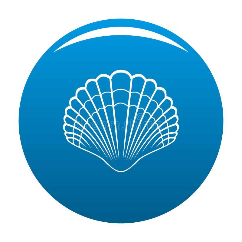 Grand bleu d'icône de coquille illustration de vecteur