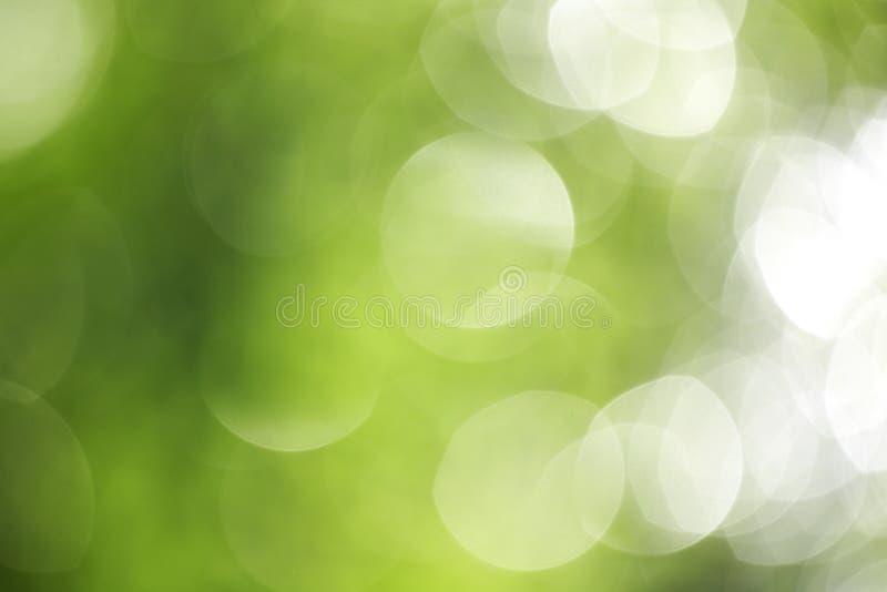Grand bokeh vert photo stock