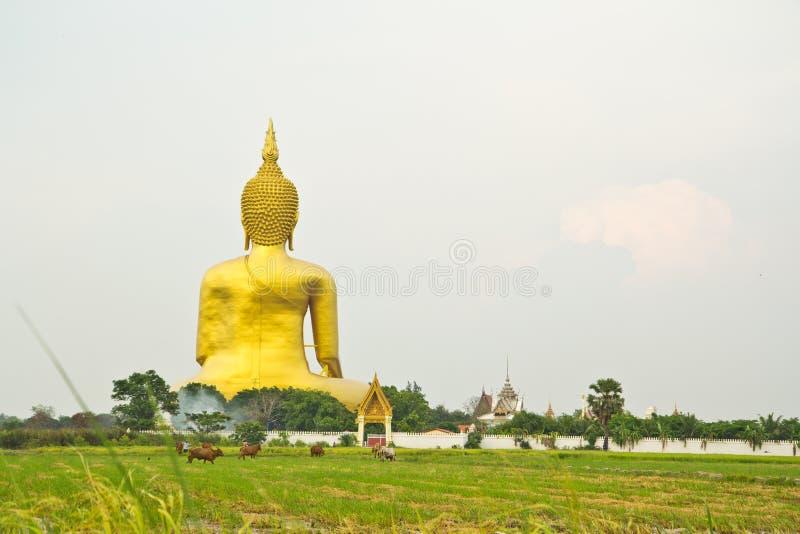 Grand Bouddha chez Wat Mung, Thaïlande images stock