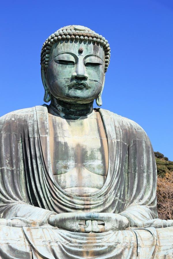 Grand Bouddha en bronze célèbre à Kamakura, Honshu, Japon images libres de droits