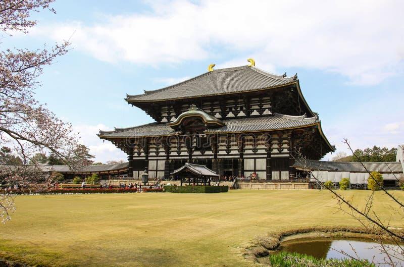 Grand Bouddha Hall de temple de Todai-JI ? Nara, Japon images libres de droits