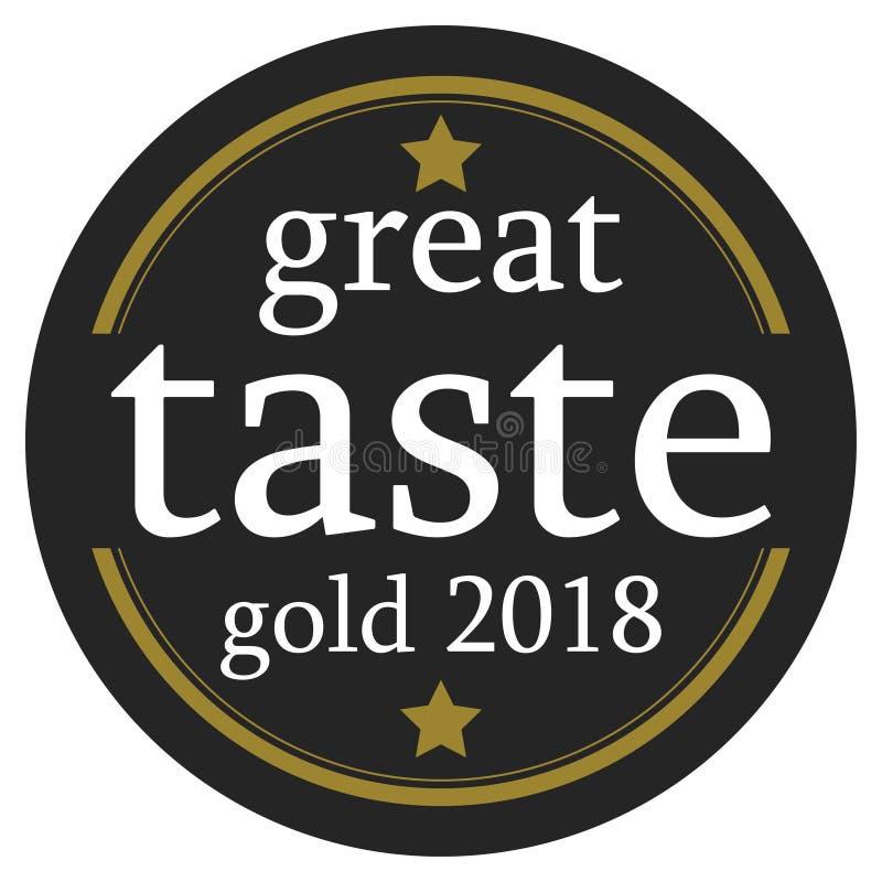Grand bouton du goût 2018 illustration stock