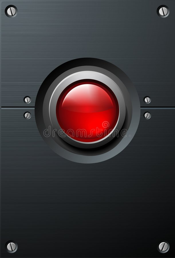 Grand bouton rouge illustration de vecteur
