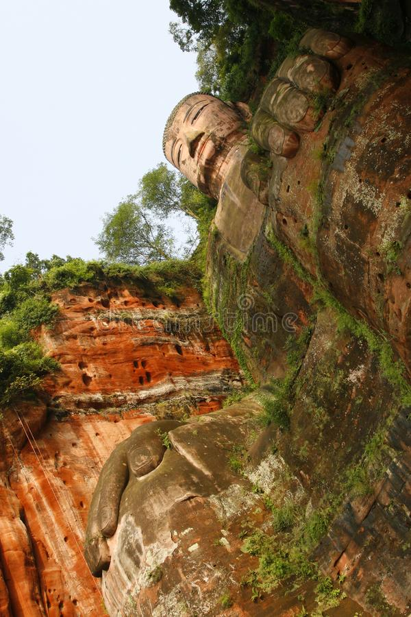 The Grand Buddha at Le Shan stock images