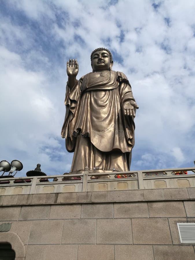 Grand Buddha at Lingshan stock image
