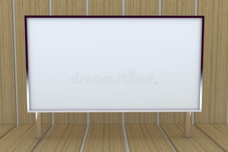 grand cadre 3D blanc avec le fond illustration stock