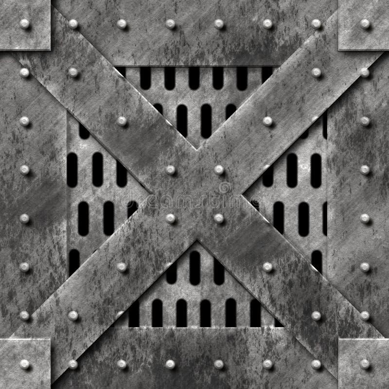 Grand cadre en métal illustration stock