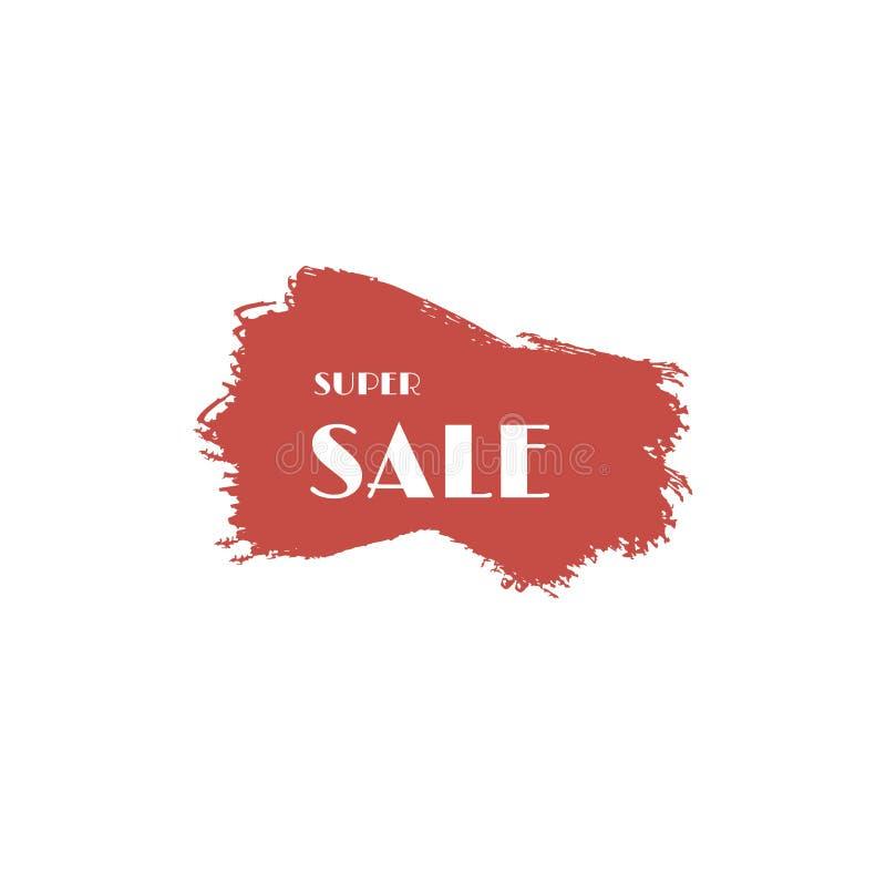 Grand calibre de vecteur d'affaires de remise de vente Taches de pinceau, lignes de barre de mise en valeur ou gouttes horizontal illustration libre de droits