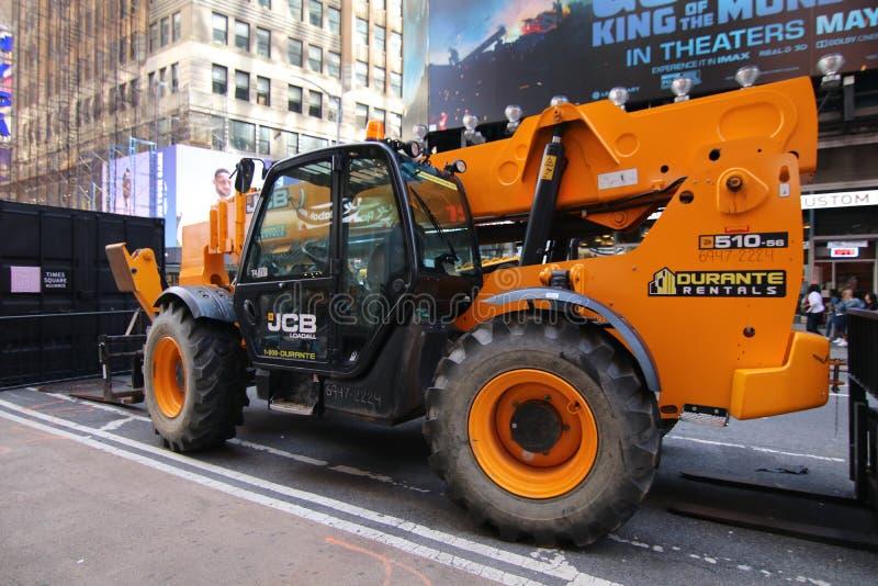 Grand camion de construction, Midtown, Manhattan image libre de droits