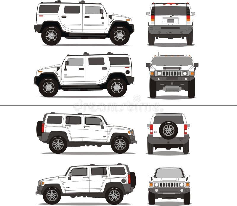 Grand camion lourd de SUV illustration stock