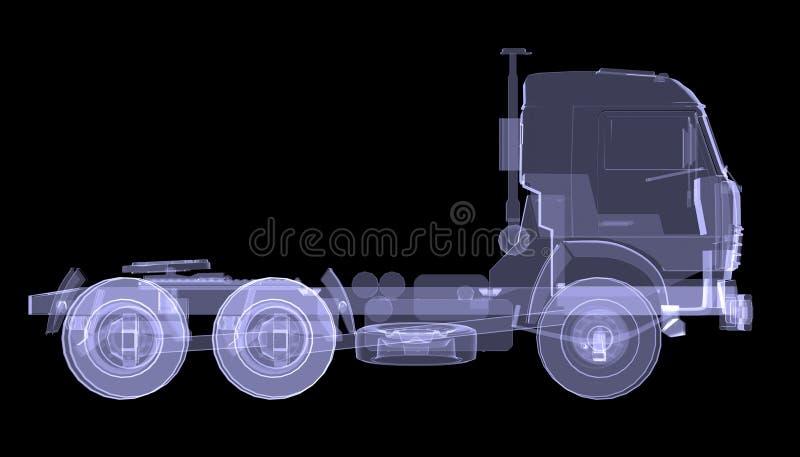 Grand camion. Rayon X illustration de vecteur