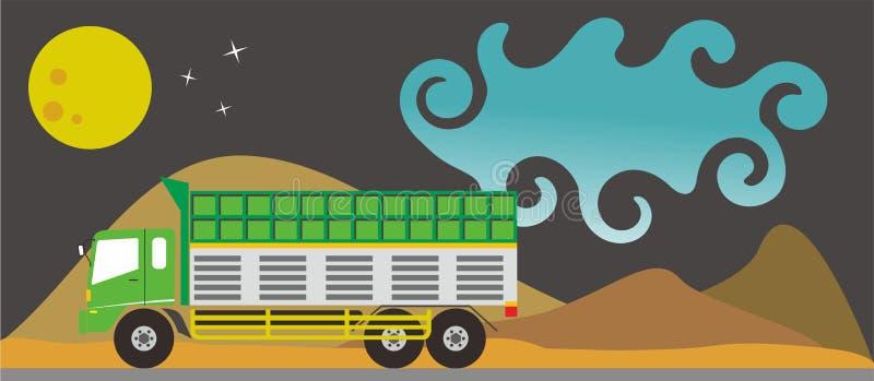 Grand camion sur l'illustration de vecteur illustration de vecteur
