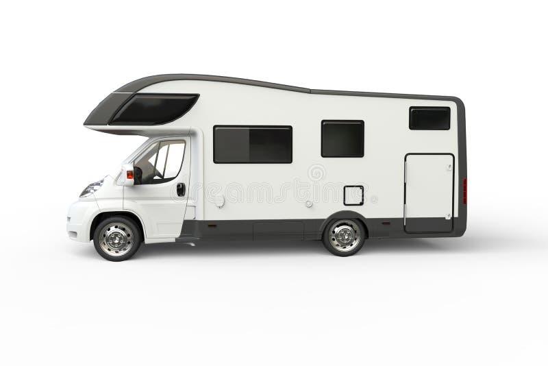 grand camping car blanc vue de c t illustration stock illustration du lecteur campeur. Black Bedroom Furniture Sets. Home Design Ideas