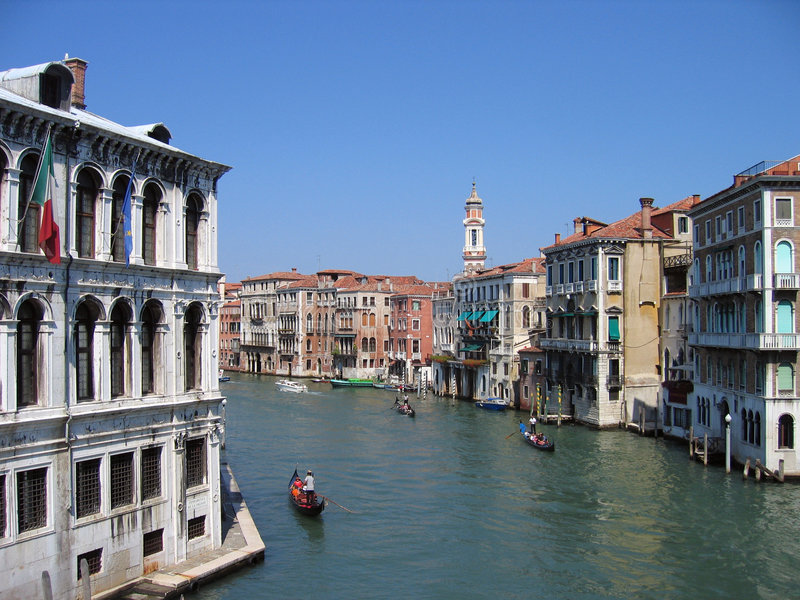 The Grand Canal 1 – Venice, Italy. The Grand Canal is the principal waterway of Venice. Its origins are probably natural, one of the many riverbeds that stock image