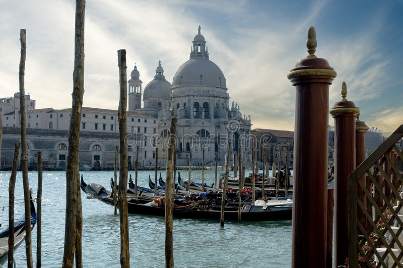 The Grand Canal. A view across the Grand Canal in Venice,Italy stock photos