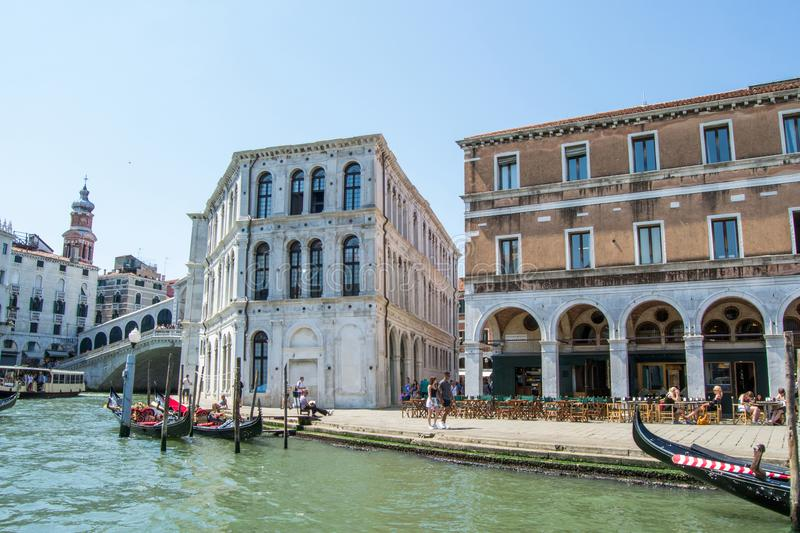 The Grand Canal and architecture in Venice, Italy. royalty free stock photography