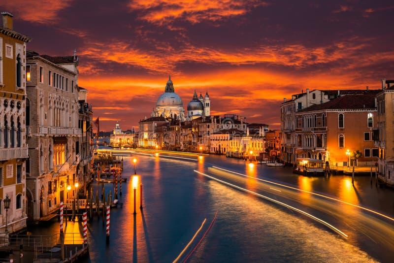 Grand Canal and Basilica Santa Maria della Salute, Venice, Italy. stock images