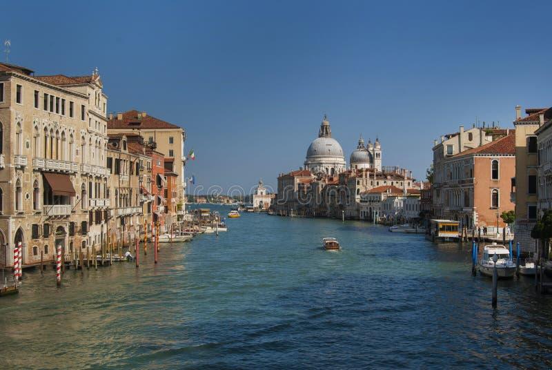 Grand Canal and Basilica Santa Maria della Salute, Venice, Italy. royalty free stock image
