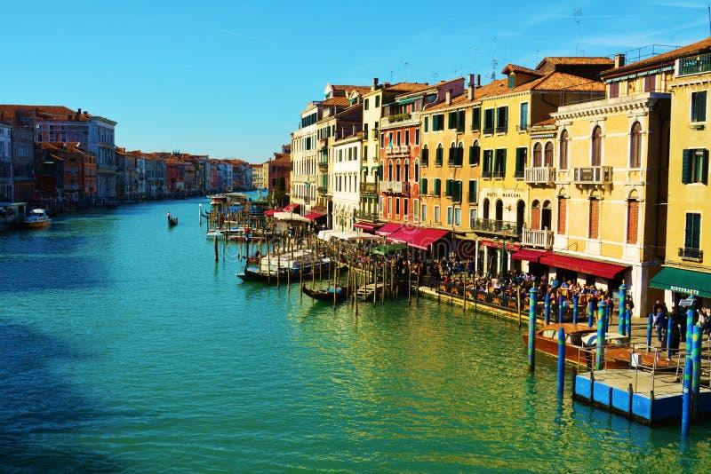 Grand Canal colorido, Veneza, Itália, Europa fotografia de stock