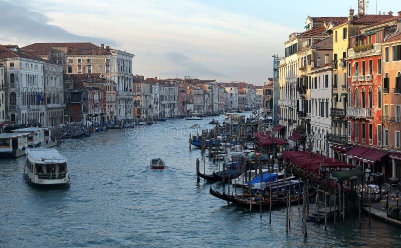 Grand Canal de degli Scalzi de Ponte de pont de Scalzi photos stock