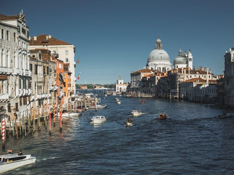 Grand Canal do dell 'Accademia de Ponte imagens de stock royalty free