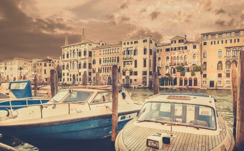 Grand Canal em Veneza, Itália fotografia de stock
