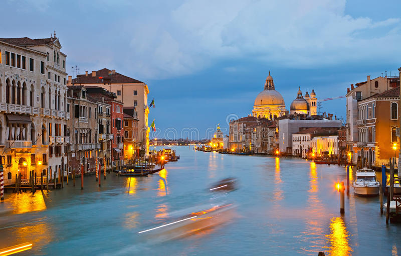 Download Grand canal at evening stock image. Image of cathedral - 13955789