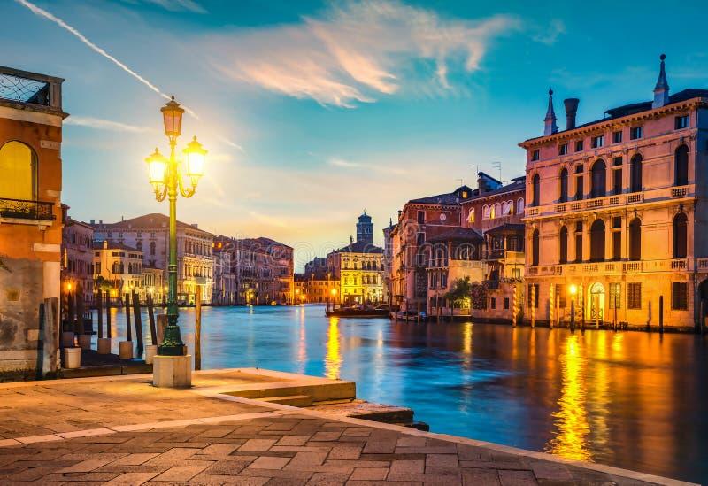 Grand Canal i sunset arkivfoto