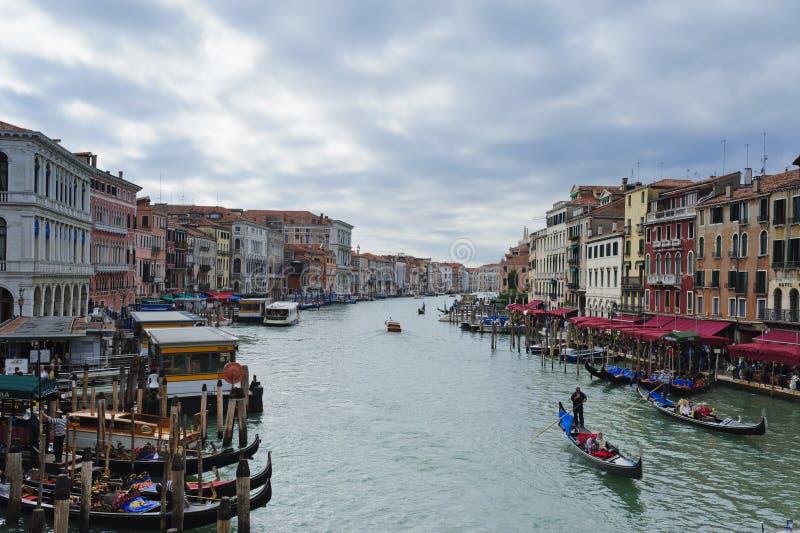 Grand Canal i Venedig för stormen royaltyfri foto
