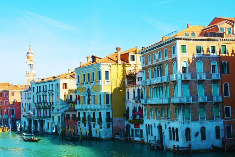 Grand Canal, in openlucht, in Venetië, Italië, Europa stock afbeelding